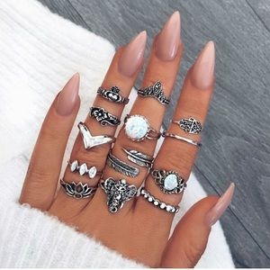 13pc Boho Ring Set
